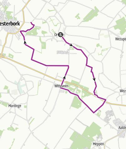 Map / FA Extra knprondje Orvelte Westerbork