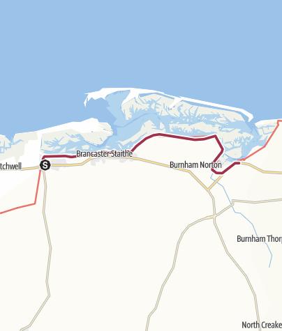 Map / Brancaster to Burnham Overy Staithe
