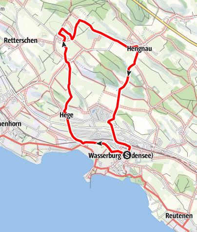 Karte / Wasserburgf R1 St. Antonius - Rundweg