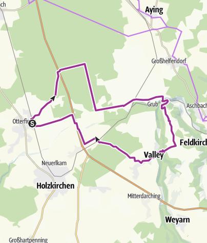 Karte / Durch Teufelsgraben und Mangfalltal