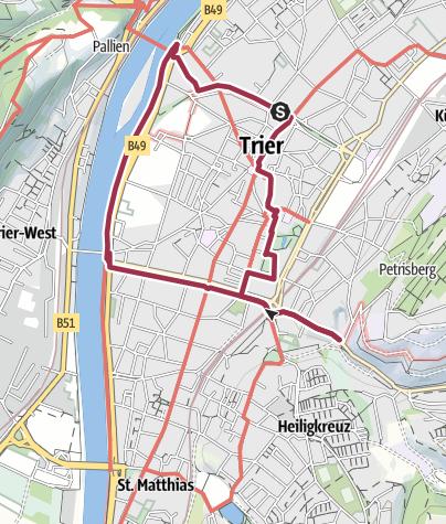 Karte / Trierer Stadtwanderung