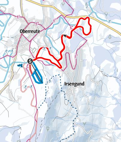 Karte / Oberreute R32 Kremlerbad-Loipe
