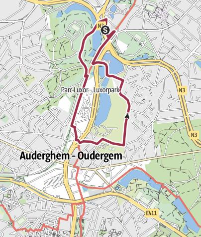 Map / Point Vert Adeps Woluwé Saint Pierre 5 Km