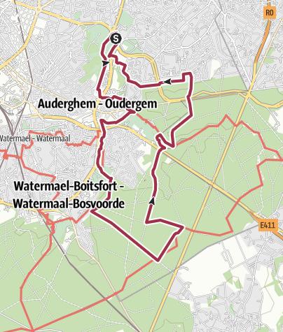 Map / Point Vert Adeps Woluwé Saint Pierre 20 Km
