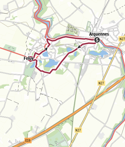 Map / Boucle Arquennes-Feluy