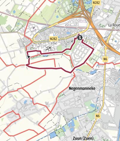 Map / Point Vert Adeps 2011 - Circuit 5 Km