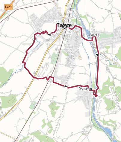 Map / Tubize-Clabecq et retour