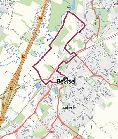 Map / Beersel, les rives de la Senne