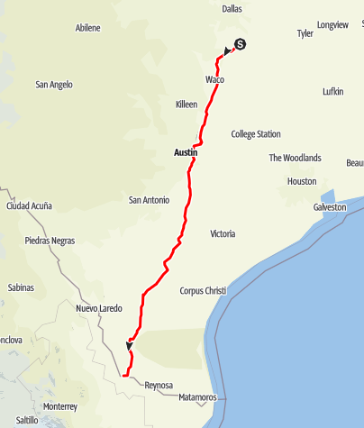 Map / Ennis to Roma, back roads