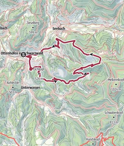 Karte / Über den Karlsruher Grat