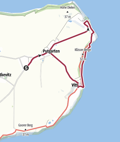 Karte / Am Kap Arkona auf Rügen