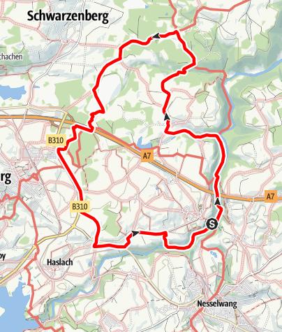 Karte / Rundwanderweg - Oy-Mittelberg