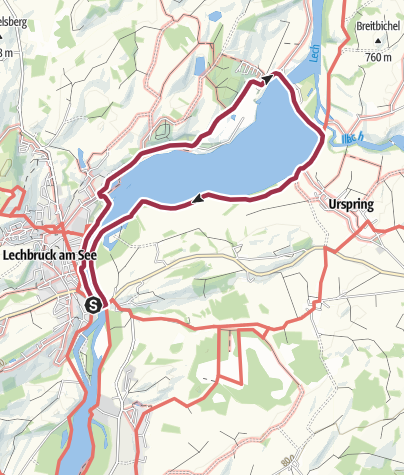 Karte / Erlebniswanderung am Lech
