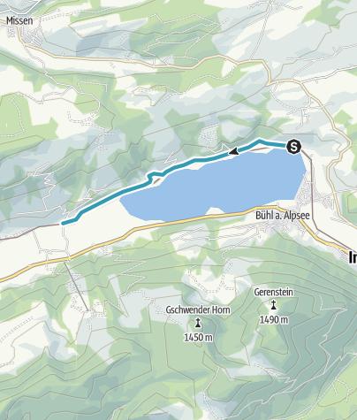 Karte / Am Großen Alpsee