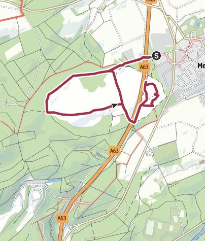 Karte / Runde durch die Mehlinger Heide
