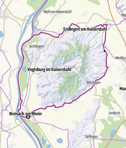 Karte / Rundtour um den Kaiserstuhl