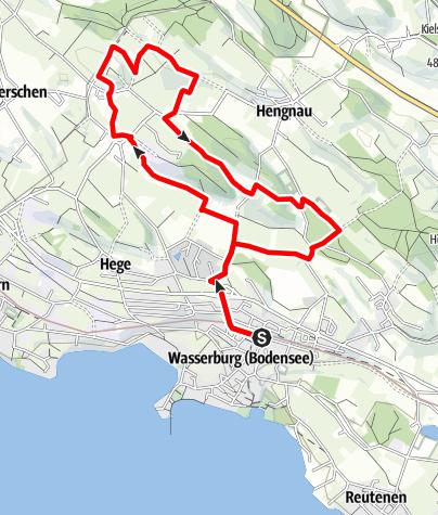 Karte / Wasserburg R15 Winterberg Runde