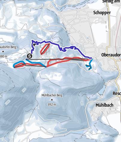 Karte / Rodeln im Freizeitgebiet Oberaudorf - Hocheck