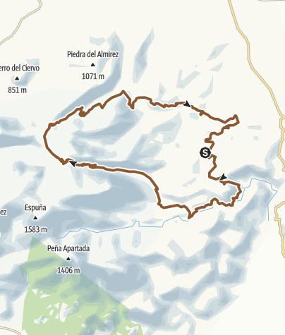 Map / Sierra Espuña: El Berro-Collado Blanco