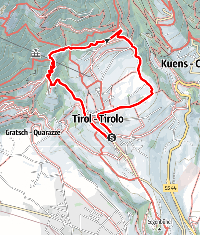 Karte / Rund um das Schloss Tirol