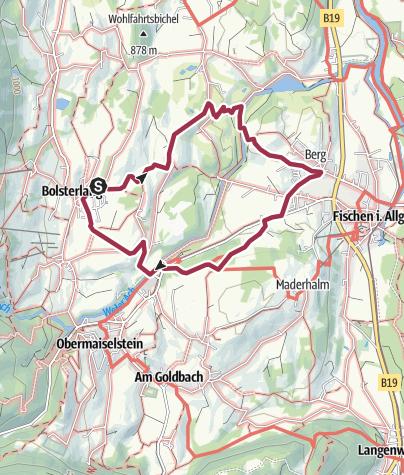 Karte / 3-Gemeinden-Wandertour zwischen Bolsterlang und Fischen