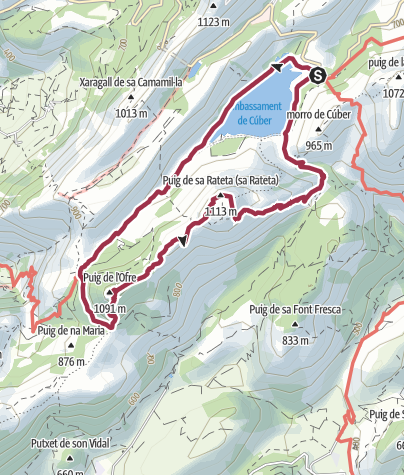 Mapa / Al Puig de sa Rateta, pasando por el Puig de l'Ofre