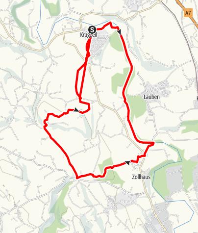 Karte / Wanderweg Krugzell Illerweg
