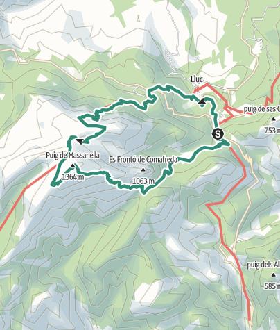 Karte / Massanella, der höchste Wandergipfel Mallorcas