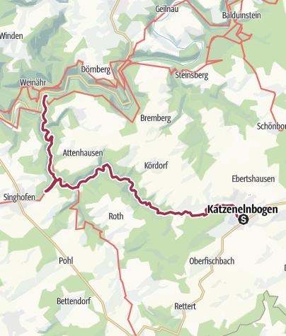 Karte / Dörsbach-Mühlenwanderweg