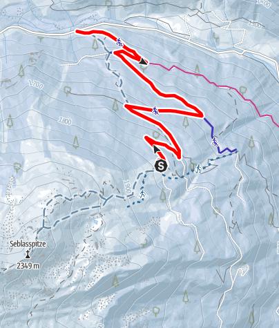 Karte / Rodelbahn  Brandstattalm