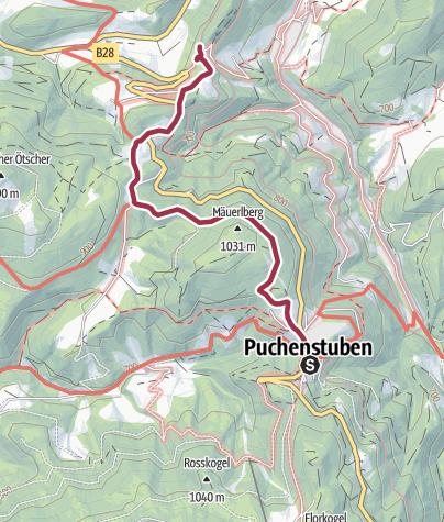 Karte / Puchenstuben - Mäuerlberg - Winterbach