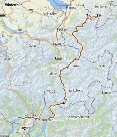 Karte / Oberstdorf - Locarno