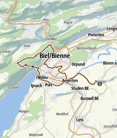 Karte / Dotzigen-Magglingen-Lysserbrunnen-Biel-Dotzigen