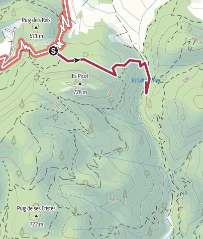 Mapa / Coll Honor zum Wasserfall Salt des Freu