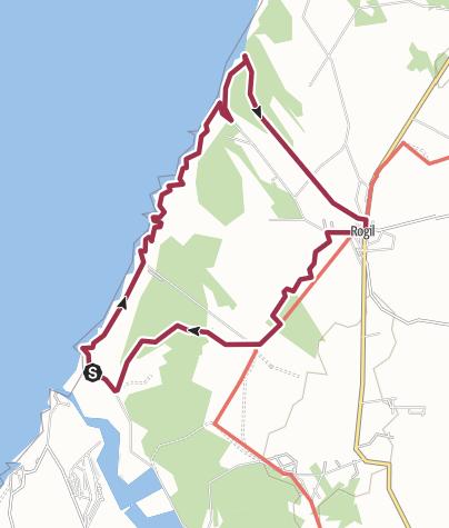 Map / Trilho: Amoreira- Vale dos Homens- Rogil
