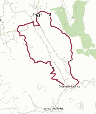 Map / Trilho das Fráguas - Rio Maior