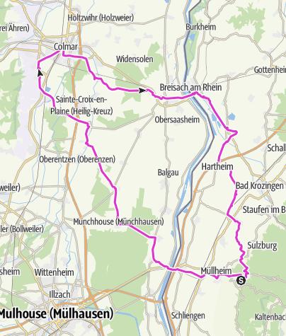Elsass Karte Zum Ausdrucken.Rennrad Tour Elsass Nach Colmar Von Badenweiler Aus