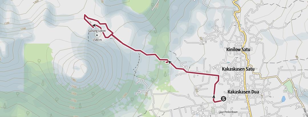 Mapa / Tomohon Volcan