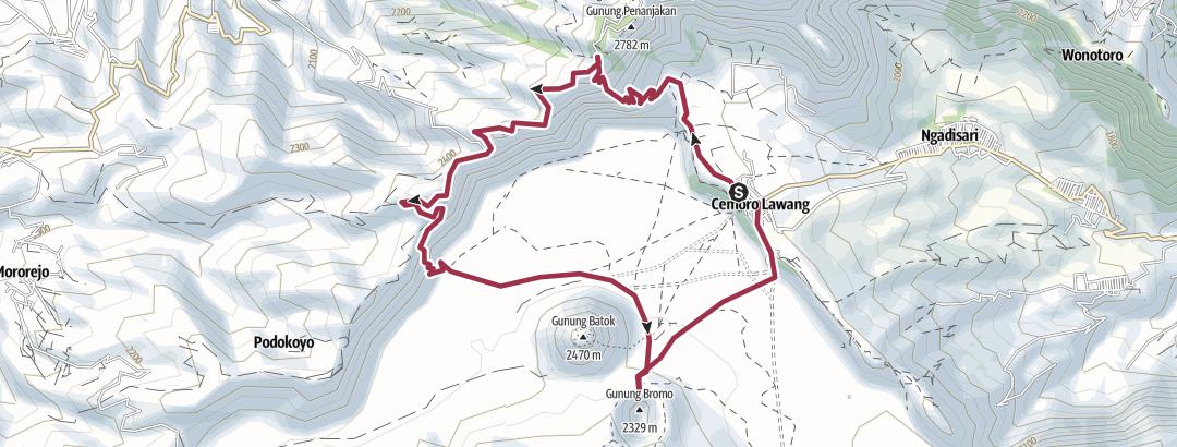 מפה / Bromo en boucle