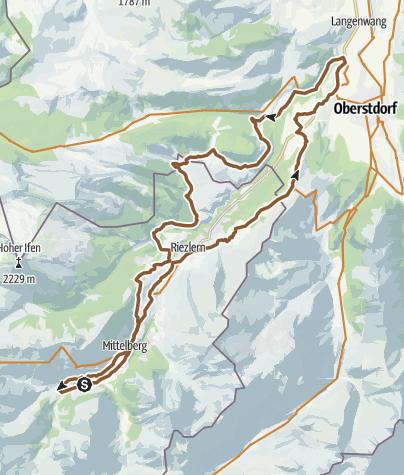 Karte / Kleinwalsertal - runter und rauf