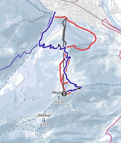 Mapa / Rodeln am Mittag nahe Immenstadt