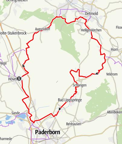 Karte / Senne-Radweg