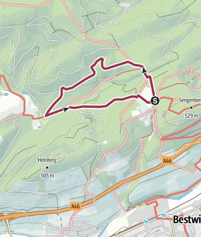Karte / Rundweg um Föckinghausen (A1)