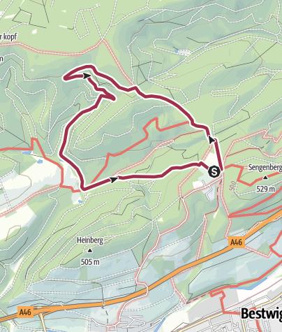 Karte / Rundweg um Föckinghausen (A3)