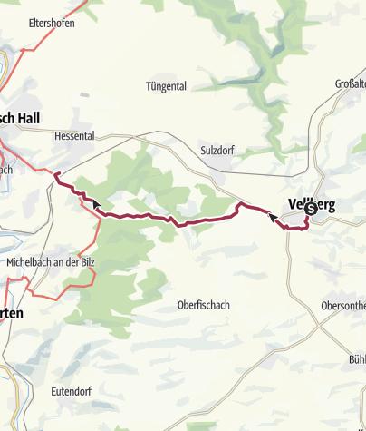Karte / Vom Bühlertal ins Kochertal