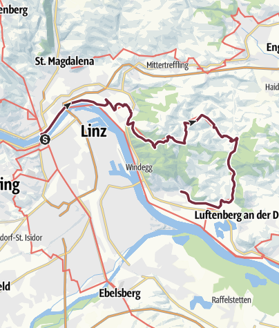 "Map / Donausteig Stage 3_N07 Linz - Steyregg: ""Summit assault in the Linzer Basin"""