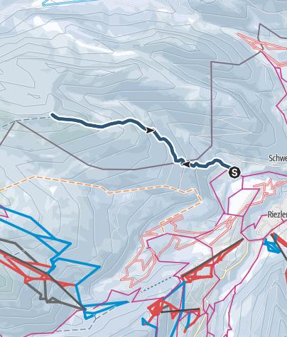 Karte / Von Riezlern auf das Toreck