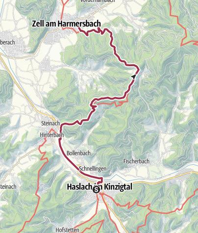 Karte / Kinzigtal - Kinzigtäler Jakobusweg , 4. Etappe
