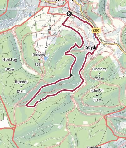 Karte / Paradies-Rundweg
