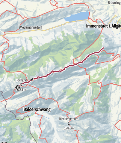 "Map / Crossing the ""Nagelfluhkette"""